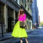 neon full midi skirt street style 150x150 Styling A Black Bag. Is It Really That Easy?