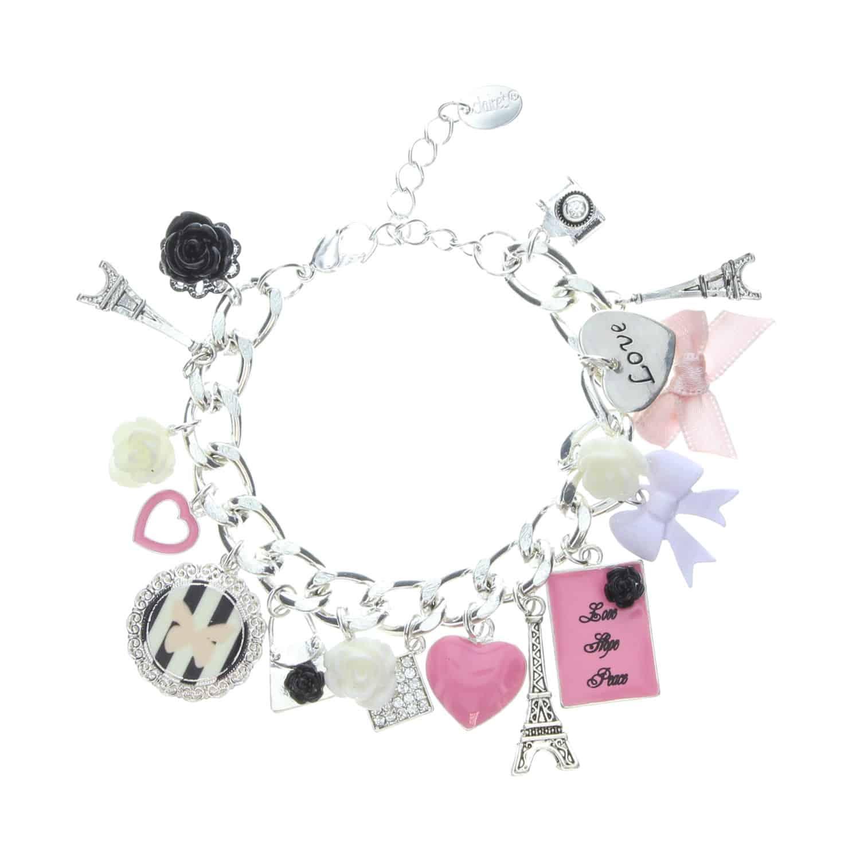 Pretty Pink Paris Charm Bracelet899