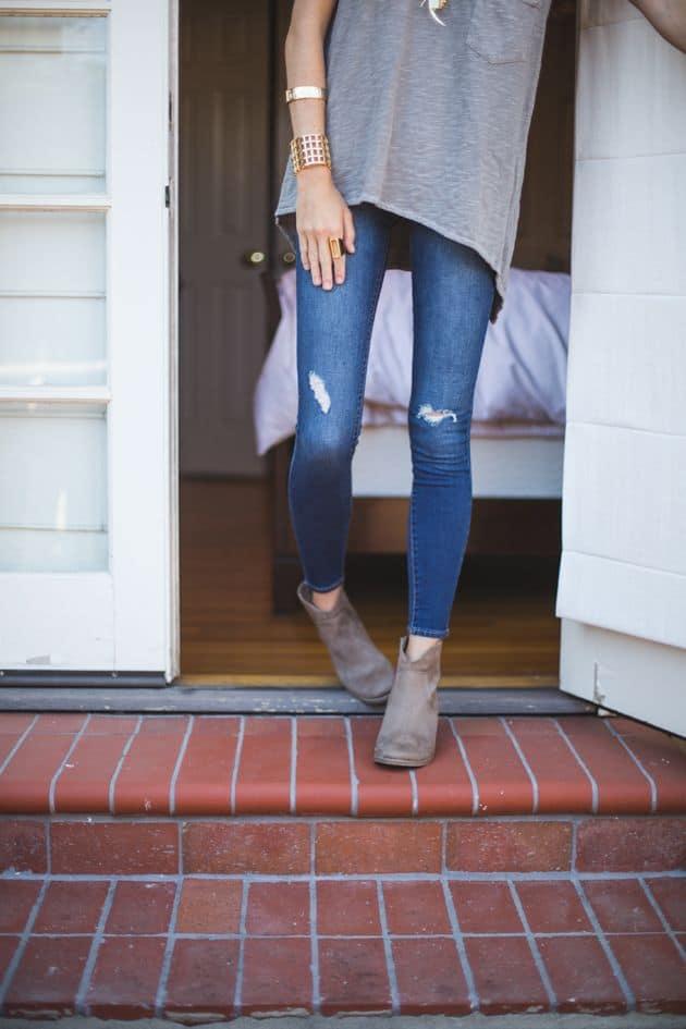 how to make skinny jeans bigger