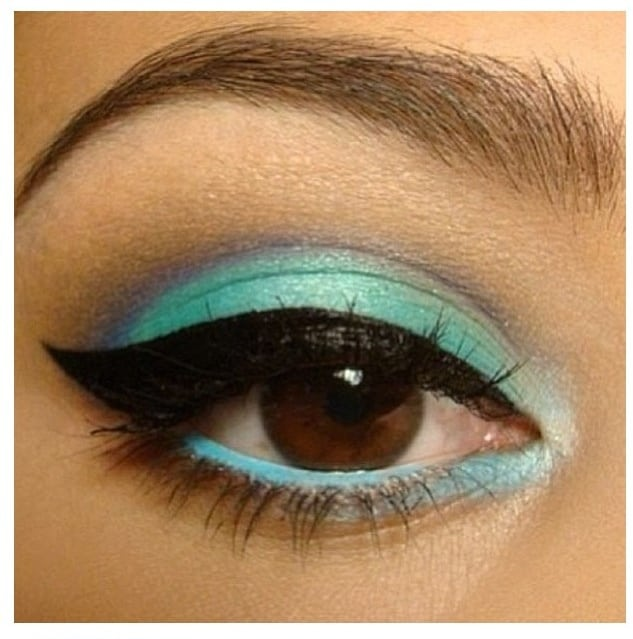 colored-funky-eye-makeup-2014-NYE-party