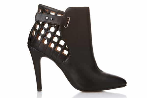 Forever 21 Clear Cut Stiletto Booties, $39.80-trend