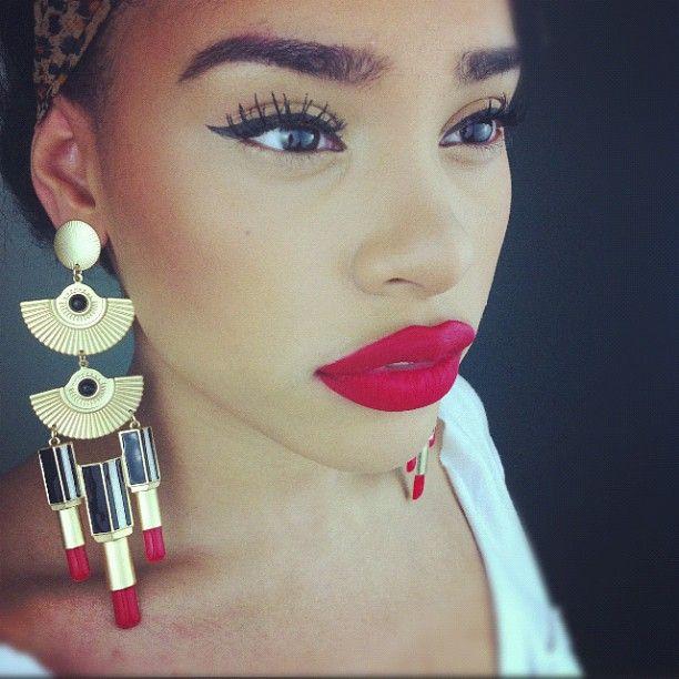 red-lips-makeup-NYE-2014 – The Fashion Tag Blog