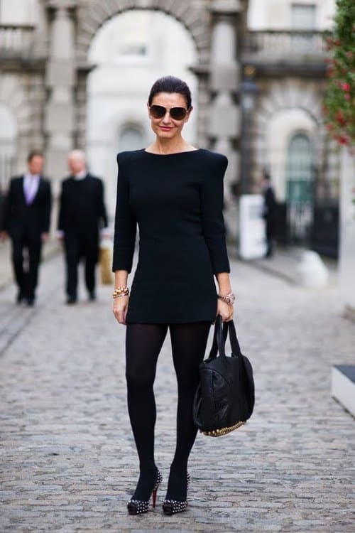 street-style-black-dress
