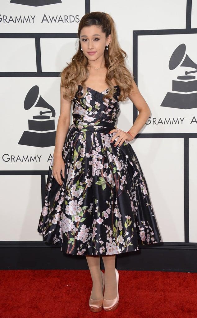 ariana-grande-2014-Grammy-red-carpet-dresses