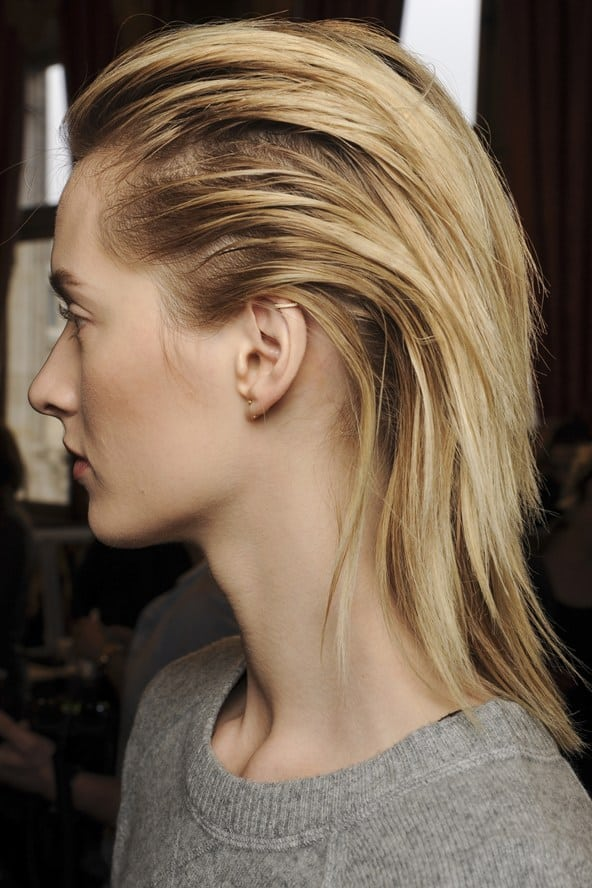balmain slicked back hair 2014 Hair Trends Straight From The Runway!