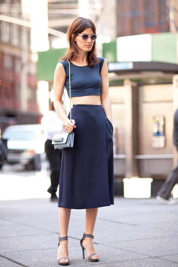 crop top skirt Crop Tops: The Scariest Trend?!