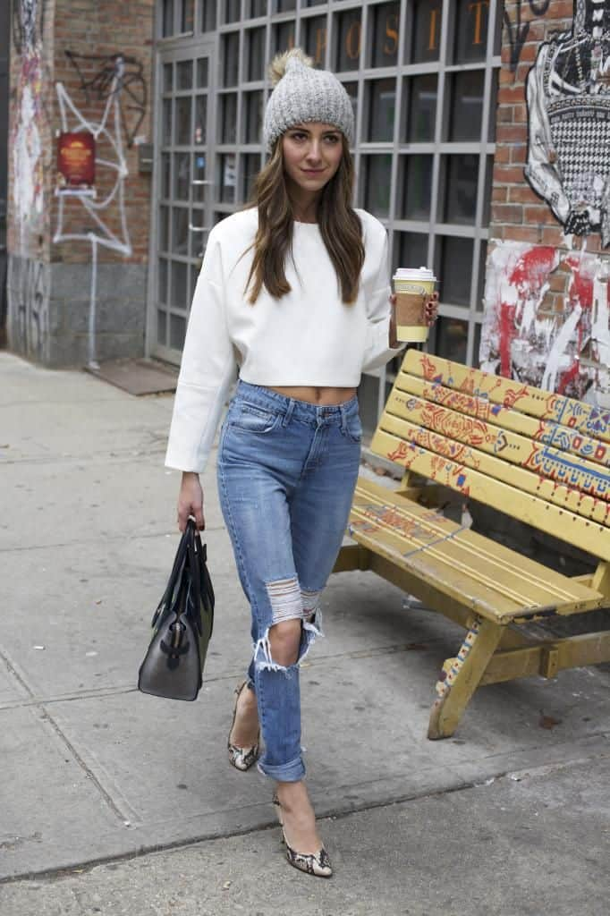 cropped tops look for cold weather Crop Tops: The Scariest Trend?!