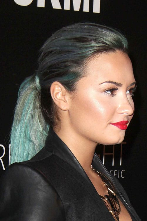 demi lovato two tone ponytail 2014 Hair Trends Straight From The Runway!