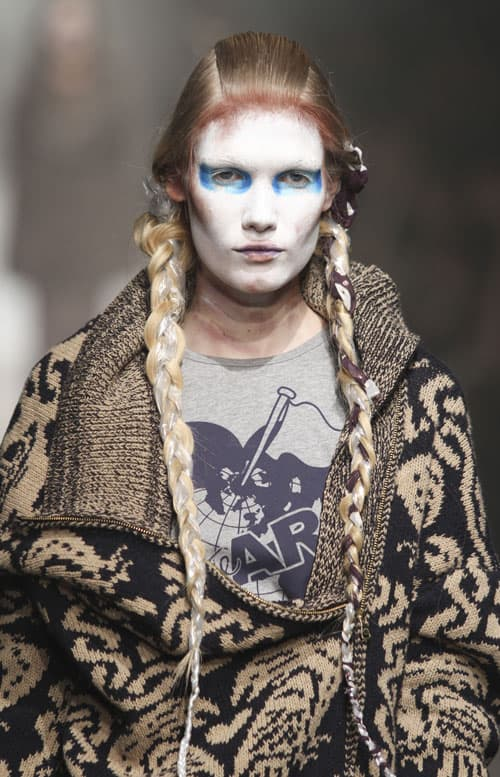 extra long braid vivienne westwood 2014 Hair Trends Straight From The Runway!