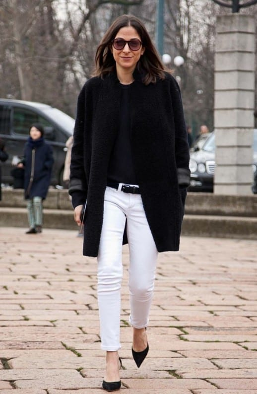 how-to-wear-white-jeans-in-winter
