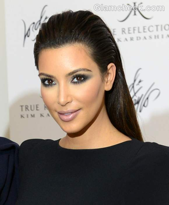 kim kardashian slicked back hairstyle 2014 2014 Hair Trends Straight From The Runway!