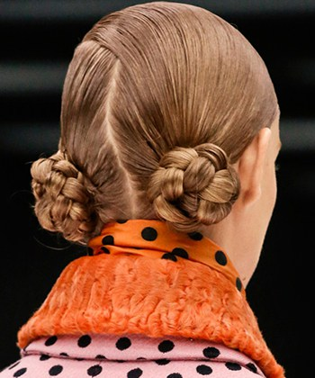 miu miu fall 2013 princess leia bun braids 2014 Hair Trends Straight From The Runway!