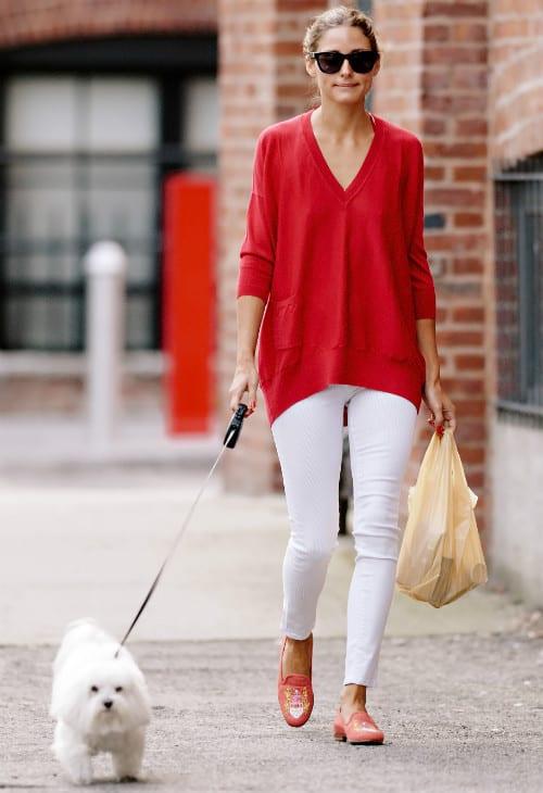 Olivia-Palermo-white-jeans
