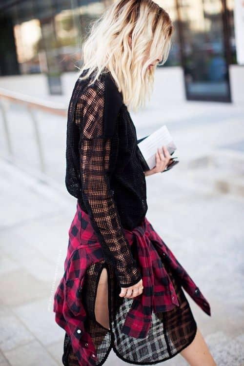 plaid-shirt-tied-around-waist-street-style