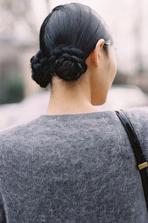 plaited buns hairstyle 2014 Hair Trends Straight From The Runway!