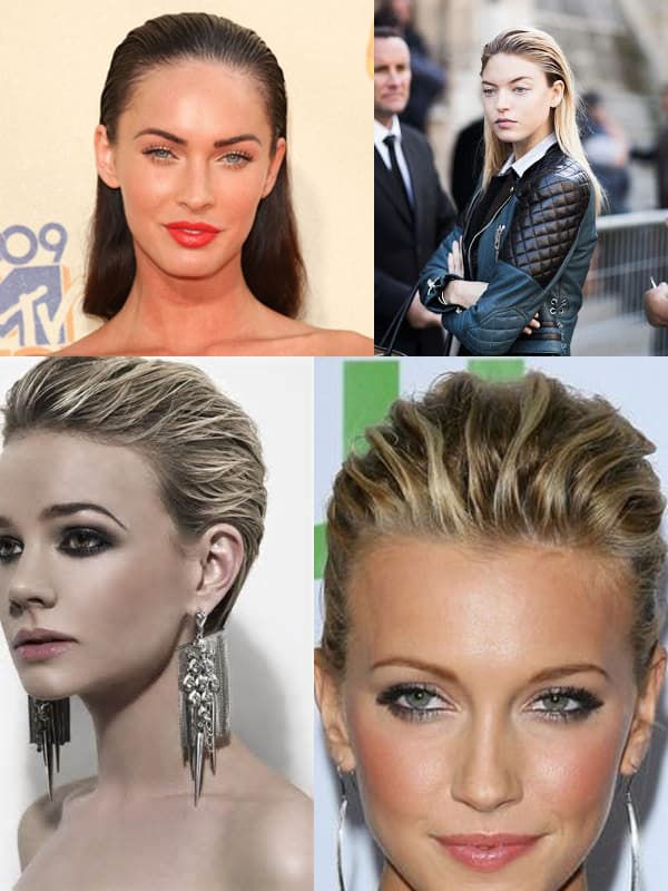 slicked back hair trend 2014 Hair Trends Straight From The Runway!