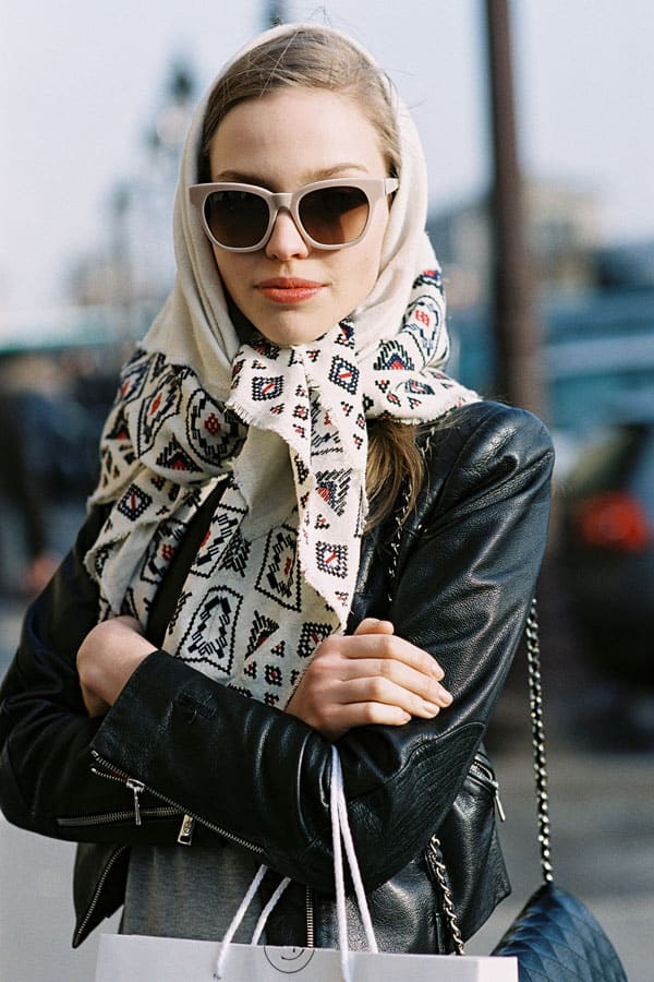 Street Style Russian Scarves 2 The Fashion Tag Blog