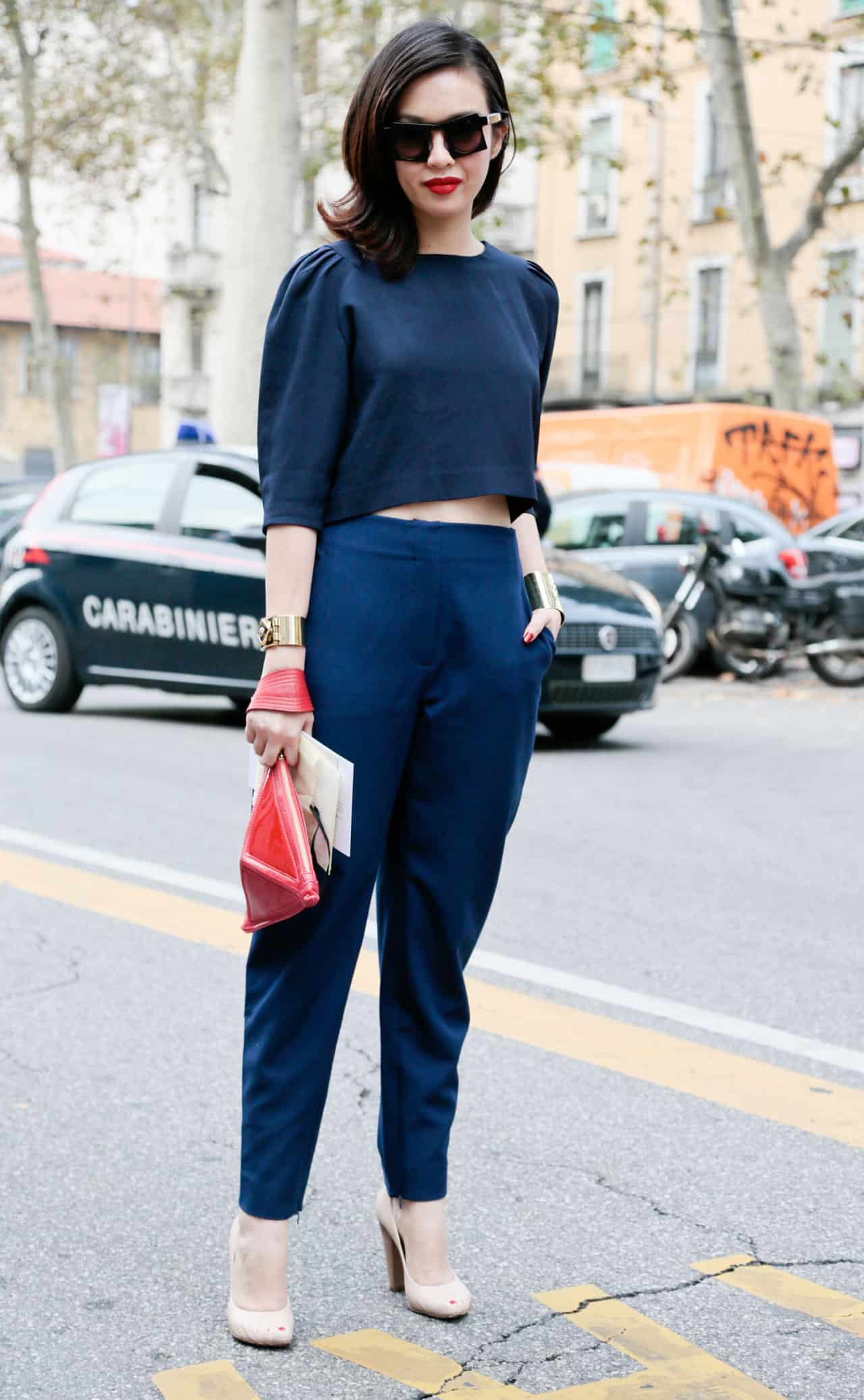 the crop top street style paris milan new york fashion week   1 Crop Tops: The Scariest Trend?!