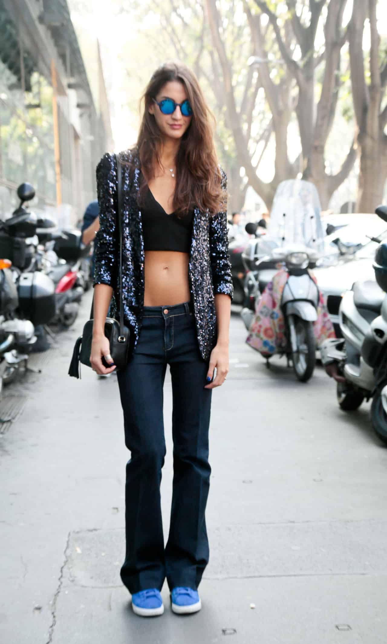the crop top street style paris milan new york fashion week   3 Crop Tops: The Scariest Trend?!