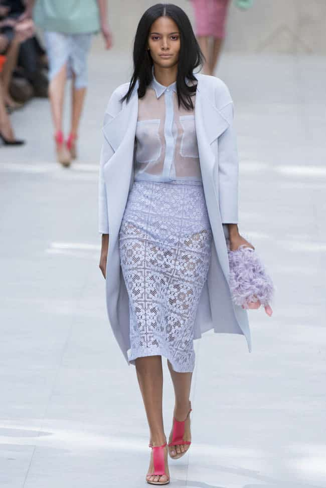 Burberry Spring 2014 - trench coat