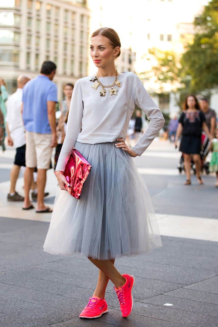 Tule Sneakers and Skirts are Back in Fashion