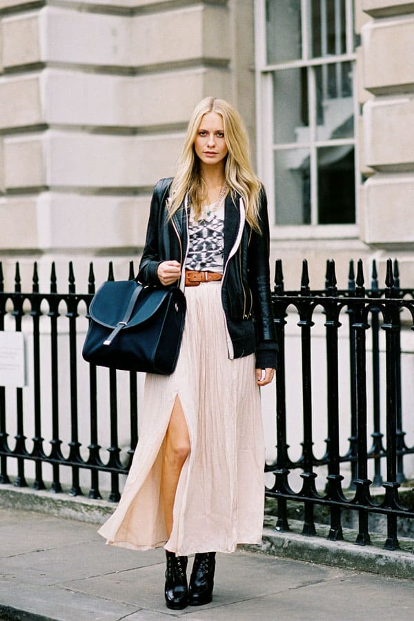 axi slit skirts streetstyle The SKIRTS Of 2014 Spring!