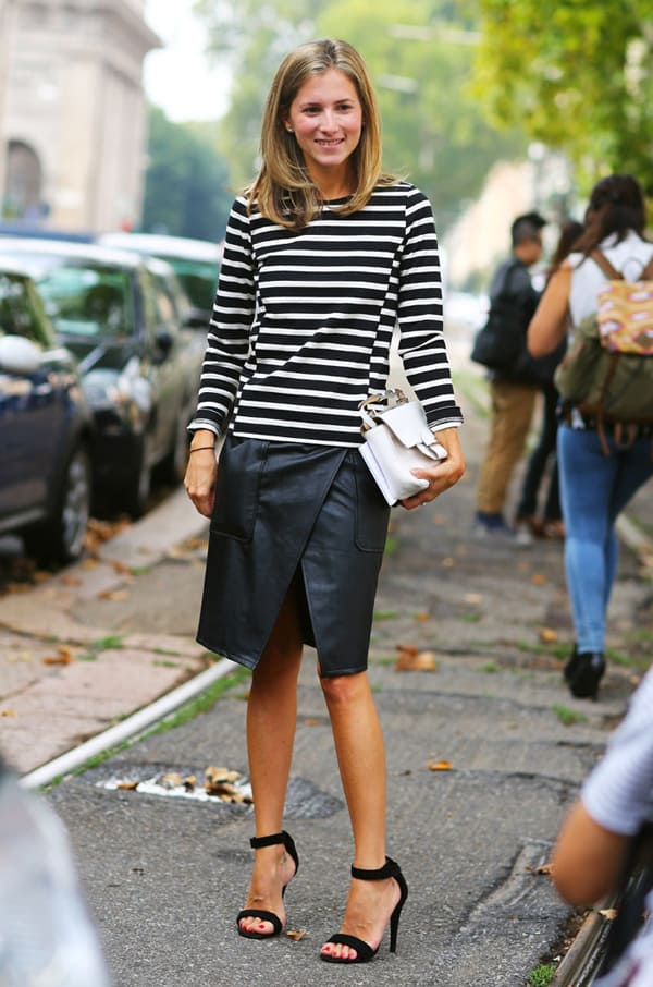 black and white thin horizintal stripes look The Thing About STRIPES & TOPS!