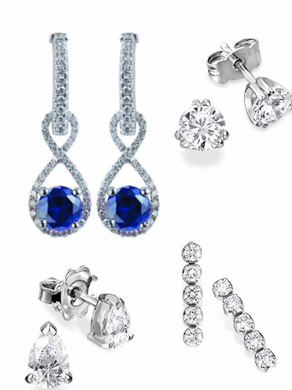 diamond earrings from Marlow's Diamonds