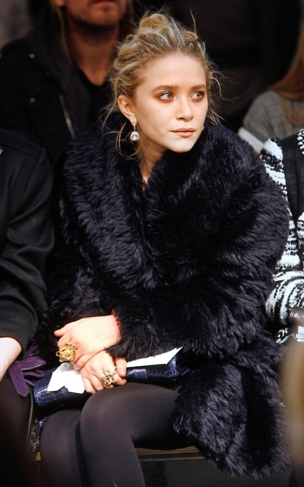 Mary-Kate Olsen front row during the show