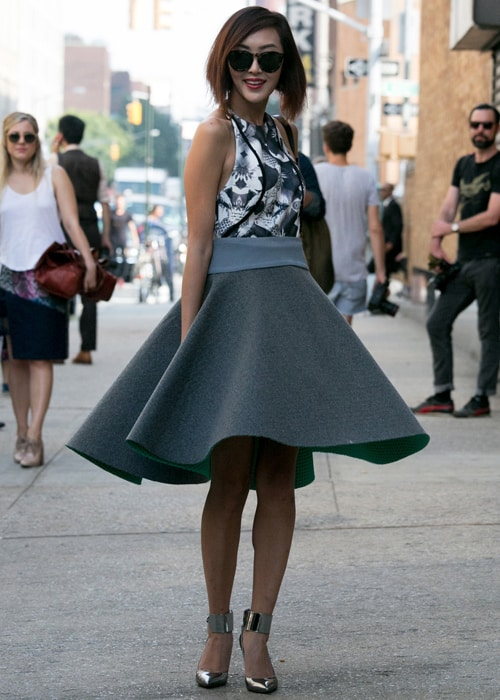 flared skirt street style The SKIRTS Of 2014 Spring!