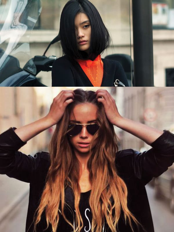 The LOB VS The EXTRA LONG Hair , Viral pictures of the day