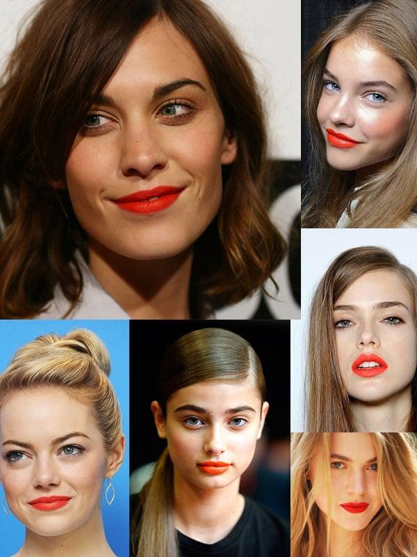orange lip trend 2014 In The Land Of ORANGE LIPS