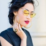 THE LOOK: Mirrored Sunglasses & Bright Lips