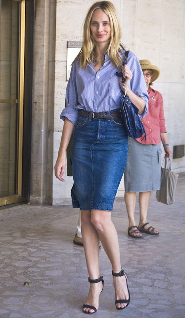is the denim skirt really passe the fashion tag