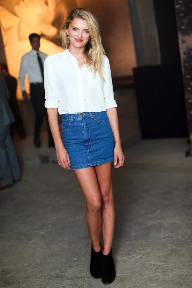 denim skirt style 3 fashion tag
