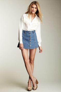 Denim-skirt-style-90s-trend | Fashion Tag Blog