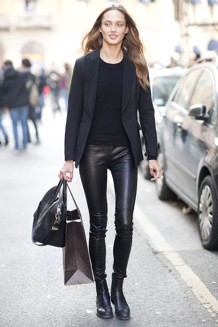 ca0fe29a556e02 How To Wear LEATHER PANTS Anywhere? – The Fashion Tag Blog