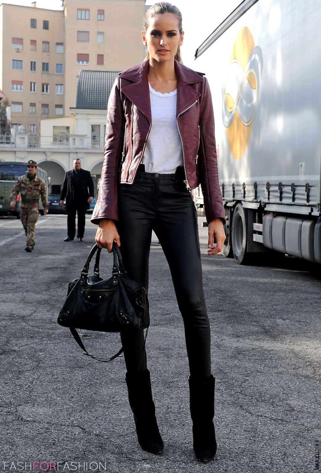 Leather Pants Street Style 6 The Fashion Tag Blog