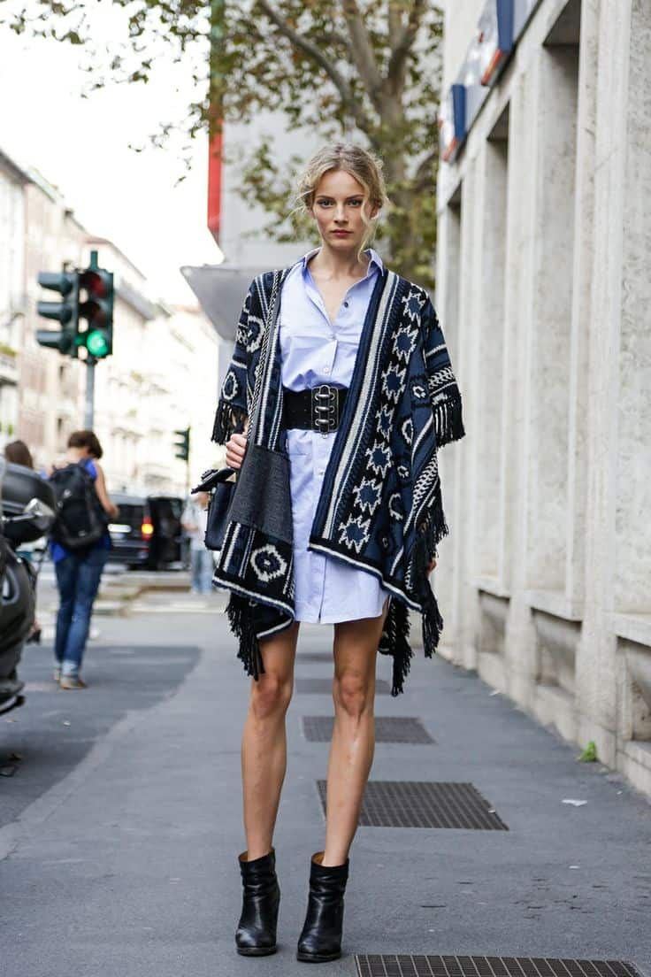 Fall Street Fashion 2013 For Girls: So BLANKETS Are The New Street Style Thing?