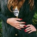 Autumn Look: Fur Vest & Sequins Sweater