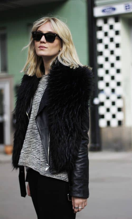 Fur Vest Outfits. How to Wear a Fur Vest - Fashion Tag Blog