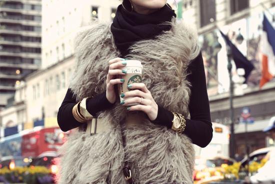 fur vest outfits