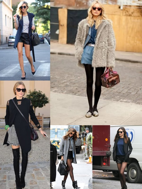 How To Wear Shorts In Autumn Amp Winter The Fashion Tag Blog