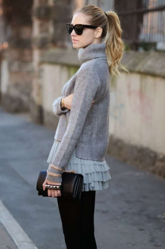 Chunky Sweaters Street Style 4