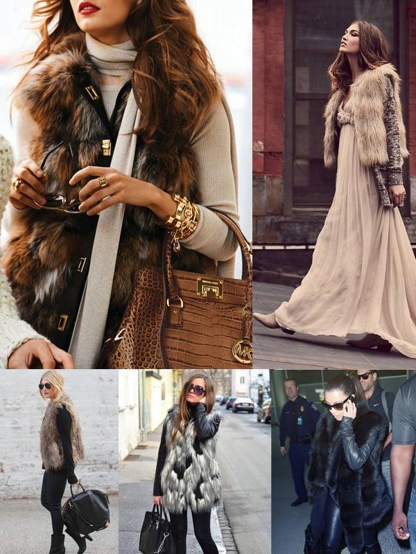 Fur Vest Outfits. How to Wear a Fur Vest