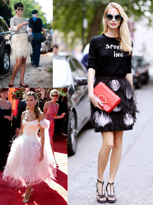 fashion-look-feathers-skirt