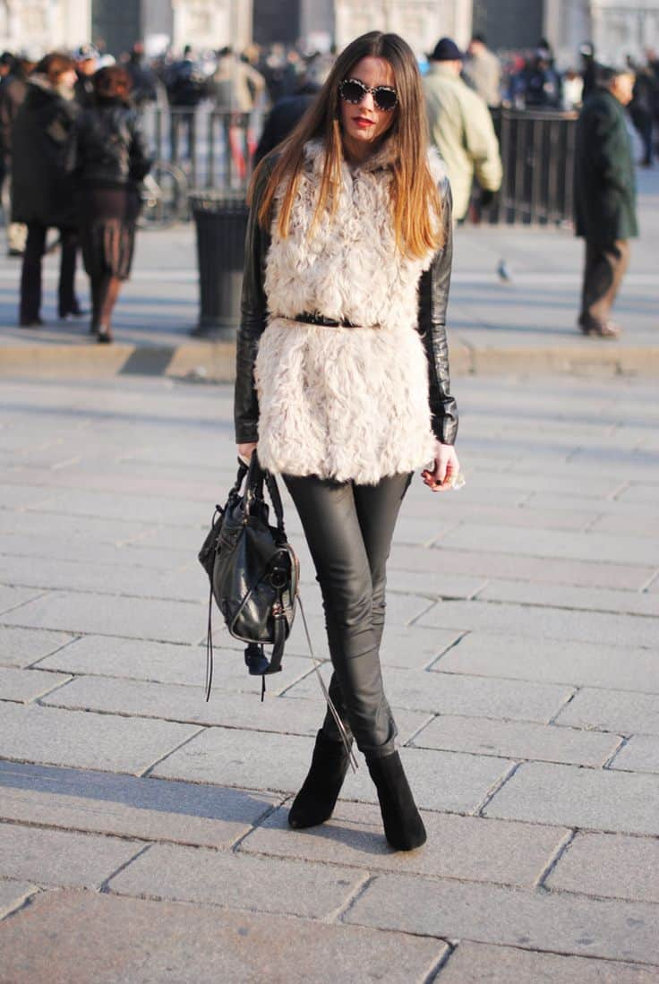 How Would You Wear A Fur Vest The Fashion Tag Blog