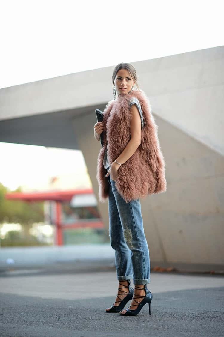 Fur Vest Outfits How To Wear A Fur Vest Fashion Tag Blog