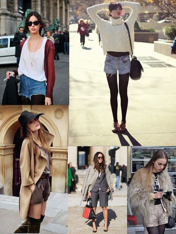 How To Wear Shorts In Autumn Winter