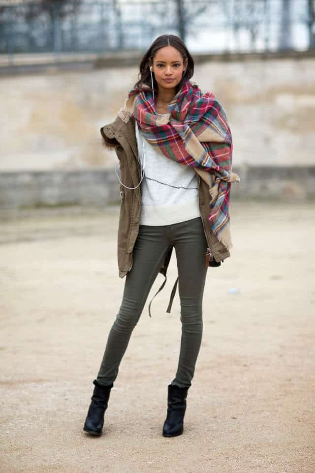 Fashion trend oversized scarf 42